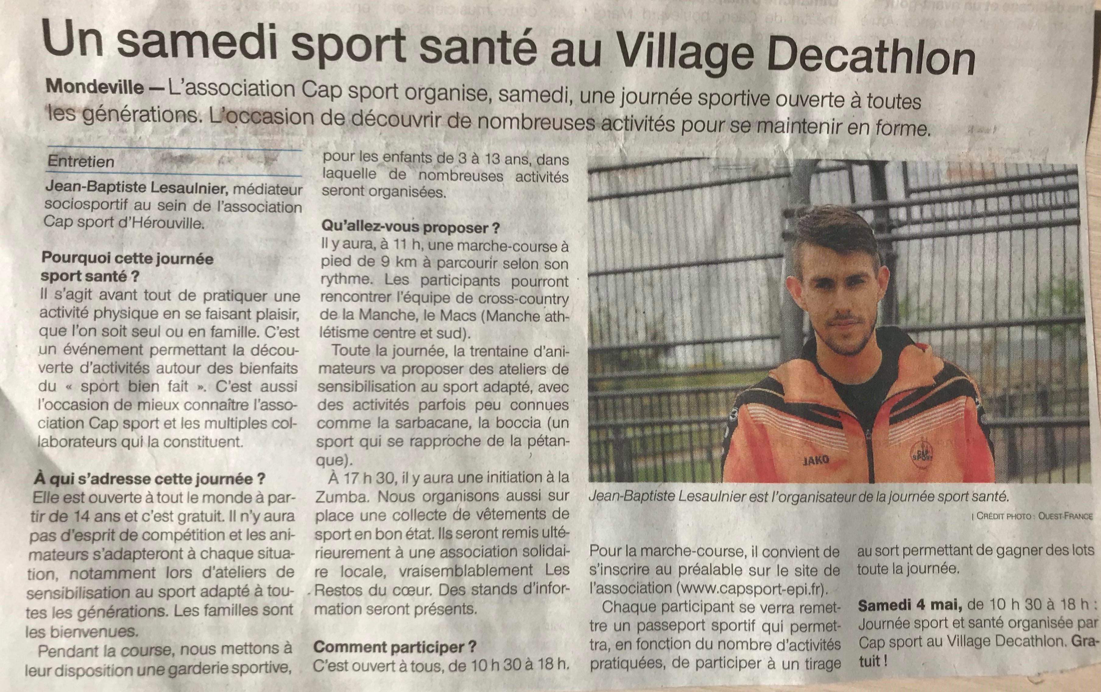 Un samedi sport santé au Village Decathlon