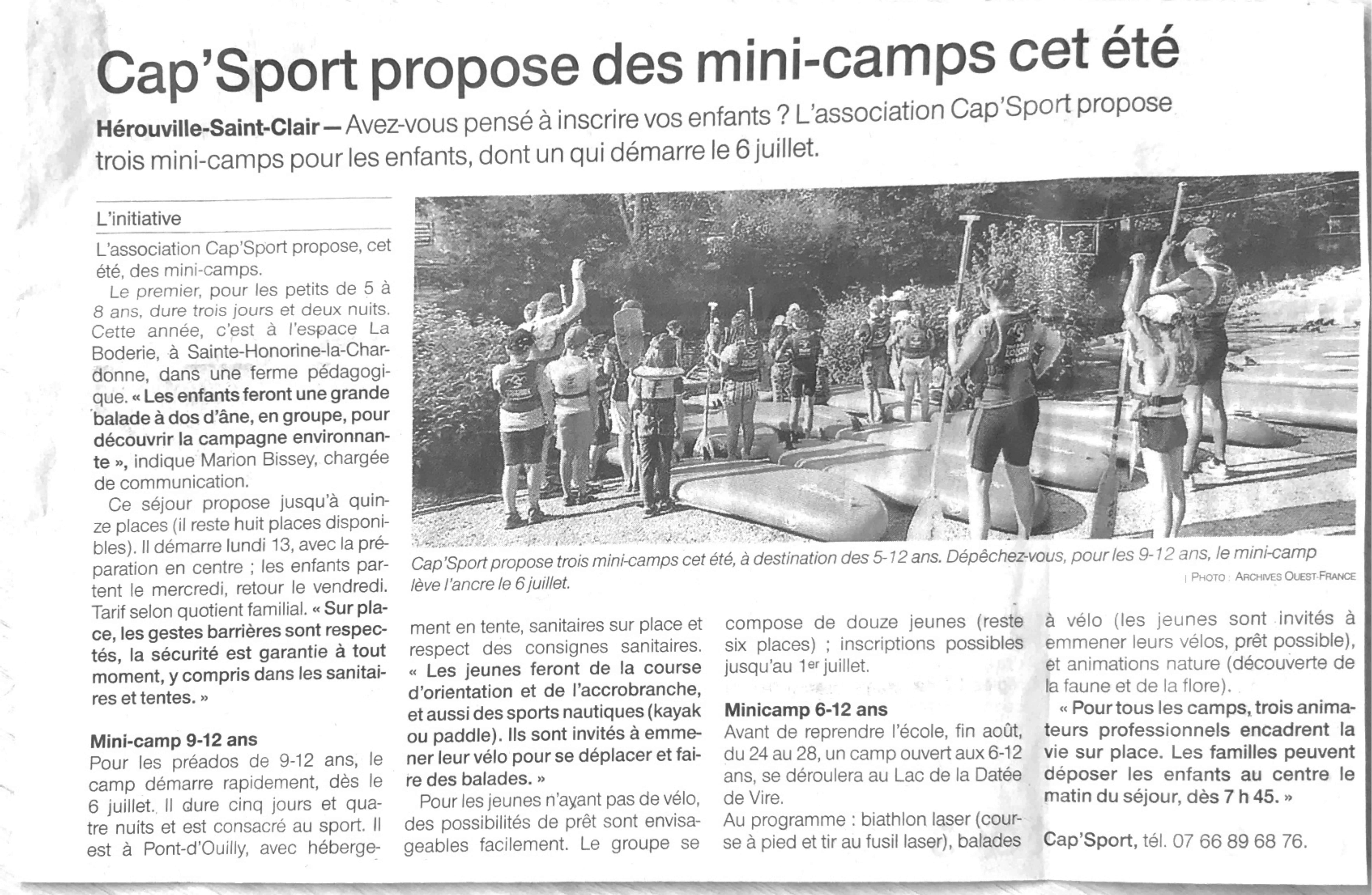 Mini-camps / été 2020