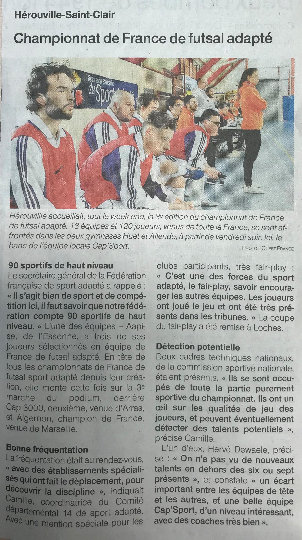 Championnat de France de futsal adapté